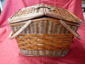 NEW Large Wicker Picnic Basket Set
