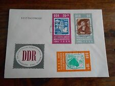 STAMPS ON STAMPS, FDC cover DDR East Germany 1964 complete set