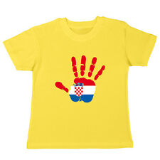 CROACIA - KIDS CAMISETA - Handprint - MANO ESTAMPADO BANDERA FLAG CROATIE