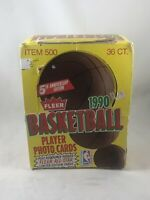 1990 FLEER BASKETBALL PLAYER PHOTO CARDS UNOPENED (36) PACK BOX
