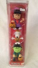 Peanuts Halloween Figure Set of 3 CHARLIE Frankenstein Sally Cow Girl Snoopy