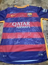 Fc Barcelona Signed Jersey 2015-16 with Certificate of Authenticity