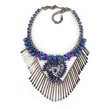 Crystal Chunky Statement Pendant Necklace Bijoux For Women 2017 Fashion New