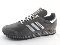 Adidas NEW YORK Shoes Gray Suede Silver Metallic Retro BY9338 Mens New *