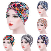 NEW Women India Muslim Ruffle Cancer Chemo Hat Beanie Scarf Turban Head Wrap Cap
