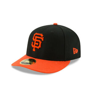 San Francisco Giants New Era On-Field Low Profile ALT 59FIFTY Fitted Hat-Blk/Org