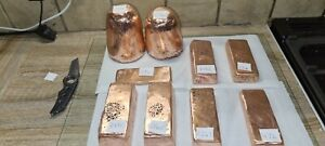 Copper Ingots, Bullion. Copper Melting. £15 PER KILO BAR! Grade A+ 99.9% copper!