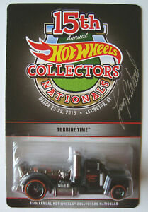 2015 HOT WHEELS  TURBINE TIME   15th NATIONALS  1500 made  SIGNED