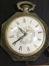 vintage 1950u0027s united electric wall clock pocket watch style model 365 works