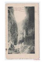 1917 con Versos G. Marradi Tarjeta Postal Antigua Animado Paisaje por Montaña