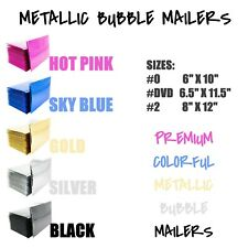 Color Metallic Bubble Mailers Padded Envelope Protective Packaging Bags Mailers