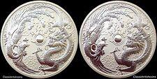 2017 Perth Mint Phoenix and Dragon (error/variety) 1oz silver