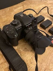 Panasonic Lumix DC-GH5 20MP Camera - Black (Body Only) With 3 Battery Packs