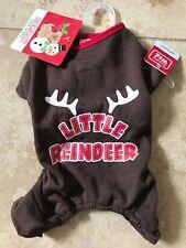 "SIMPLY WAG Brown Christmas PAJAMAS ""LITTLE REINDEER"" Puppy/Dog SMALL"