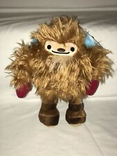 """2010 Vancouver Olympics 9"""" Quatchi Mascot Plush Stuffed Toy With Red Mittens"""