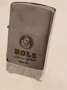 1967 Vintage Zippo Cigarette Lighter BOLS LIQUEURS Since 1575 Liquor Alcohol