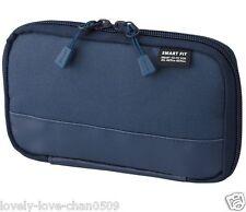 Lihit Lab Pen Case compact pen case smart fit Akutakuto A7687-11 Navy