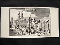 9 Historische Stadtansichten, MÜNCHEN, REGENSBURG, WÜRZBURG, NÜRNBERG, .......
