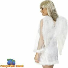 Angel Wings White Feathered Prop Hen Do Womens Ladies Fancy Dress Accessory