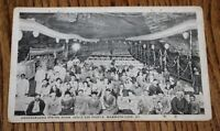 Vtg 1915-1930 Mammoth Cave Postcard, KY Underground Dining Room Seats 500 People