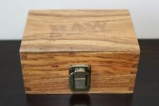 RAW Maple Wood Rolling Paper Storage Box w Magnetic Stash Box~Fast Free Shipping
