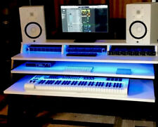 """Deluxe 60"""" Studio Recording Production Workstation Desk Dual Drawers MultiLED"""
