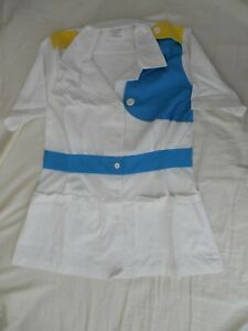 Retired Walt Disney World Custodial Cast Member Costume Shirt Blouse Prop