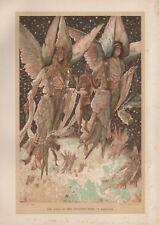 """Tissot Jesus CHROMO-LITHO PRINT - """"L' âme du pénitent voleur"""" (1897)"""