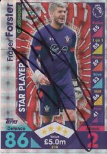 SOUTHAMPTON HAND SIGNED FRASER FORSTER MATCH ATTAX CARD 16/17.