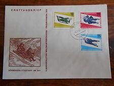 SKELETON sledding SLED Winter Sport FDC 1966 DDR Germany GDR complete set