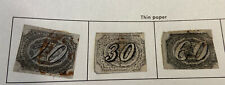 Brazil Stamps Old Used 1843-46 30&60c Thin Paper