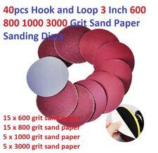 40pcs Hook and Loop 3 Inch 600 800 1000 3000 Grit Sand Paper Sanding Discs