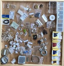 Jewelry Making Supplies, Beads, Cases, Filigree Leaf Pendants Large Mixed Lot