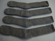 NWOT Men's 70% Merino Wool Blend Socks Shoe 12-16 Brownish Grey 4 Pair #493