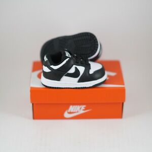Nike Dunk Low Retro White Black (TD) Size 3C NEW DS Toddler's Panda CW1590-100