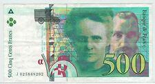 BILLET 500  FRANCS PIERRE ET MARIE CURIE 1994 J 025848292