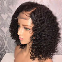 """14"""" Women Lace Front Wigs Ladies Afro Black Deep Kinky Short Curly Hair Wig"""