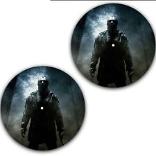 "Set of 2 Friday the 13th #2 Slip mat 7"" Scratch Pad DJ Slipmat Portablism Numark"