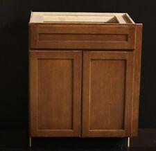 "Kraftmaid Chestnut Maple Kitchen Or Bathroom Vanity Sink Cabinet 27""+1.5"" Filler"