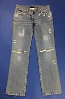 Dolce gabbana jeans donna usato destroyed boyfriend gamba dritta W30 tg 44 T4044