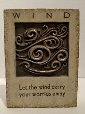 """Grasslands Road """"Let the wind carry your worries away"""" RESIN PLAQUE Wall Decor"""