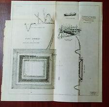 Original 1902 Fort Ganassi Lake Lanao Spanish-American War Philippines Map
