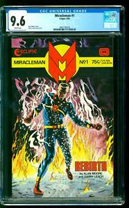 Miracleman 1 CGC 9.6 NM+ Alan Moore story Garry Leach Cover Eclipse 1985