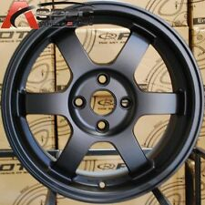 16X7 ROTA GRID WHEELS 4X100 FLAT BLACK RIMS FITS 4 MIATA CIVIC INTEGRA FIT CRX