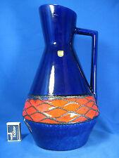 Rare beautiful glazed 70´s design Fohr pottery Keramik jug vase Krugvase 420/37