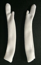 "Hamilton Toys 12"" Long WHITE Fashion Doll Gloves Fit CANDI BARBIE INTEGRITY New"
