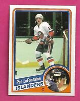 1984-85 OPC # 129 ISLANDERS PAT LAFONTAINE  ROOKIE NRMT+  CARD (INV# D0361)