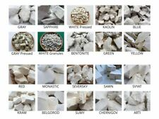Set of ALL TYPES edible natural CHALK & CLAY for eating, 20 species (Total 2 lb)