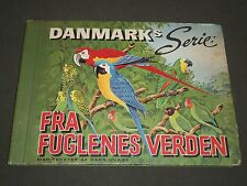 1940'S DANMARKS SERIE FRA FUGLENES VERDEN BIRDS TOBACCO CARDS ALBUM - KD 3188