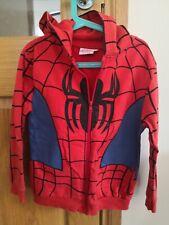 Boys Marvel Spiderman zip up Hoodie Age 7-8